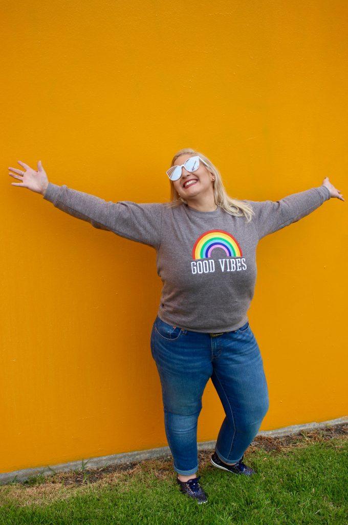 Good Vibes Rainbow Sweatshirt