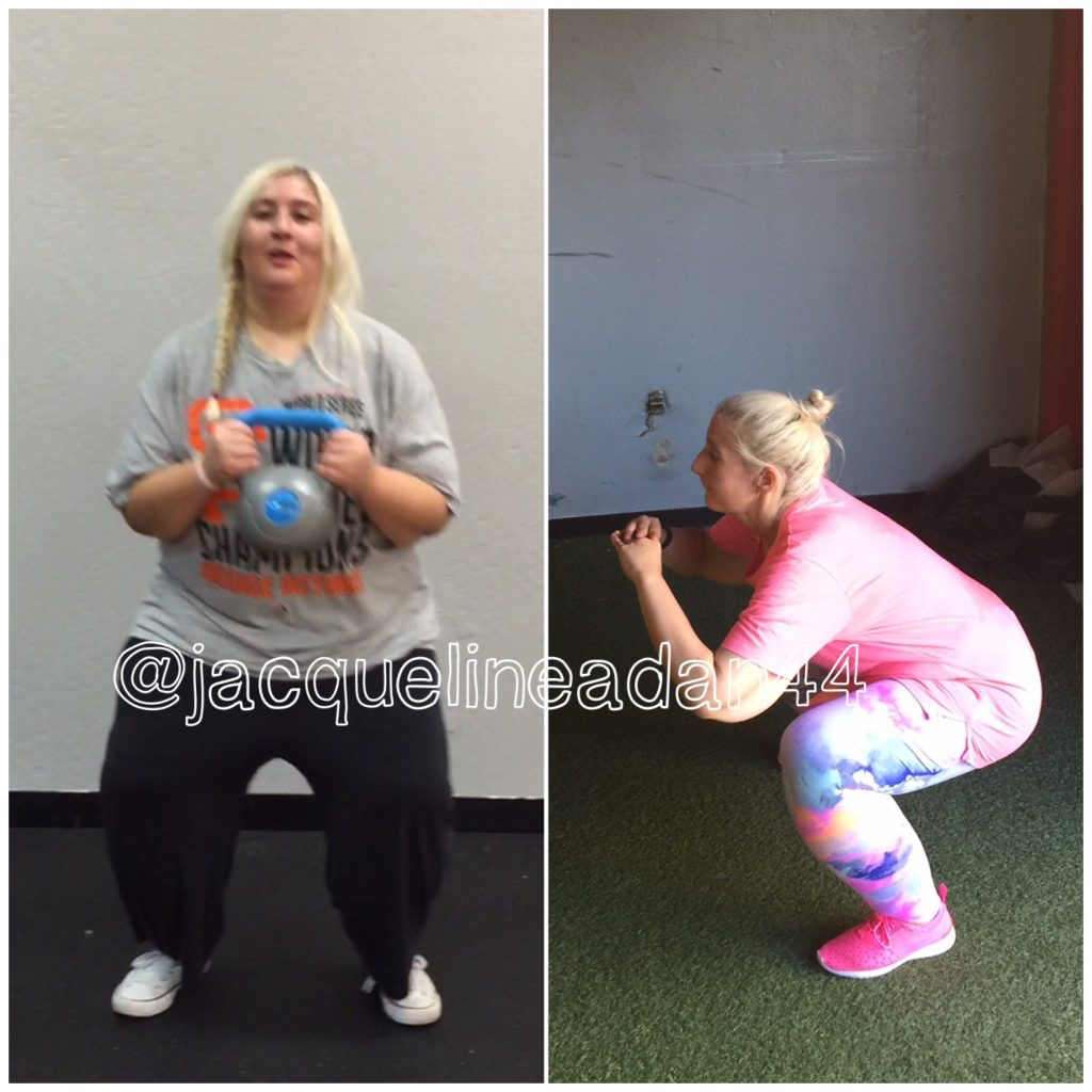Jacqueline Working out before and after