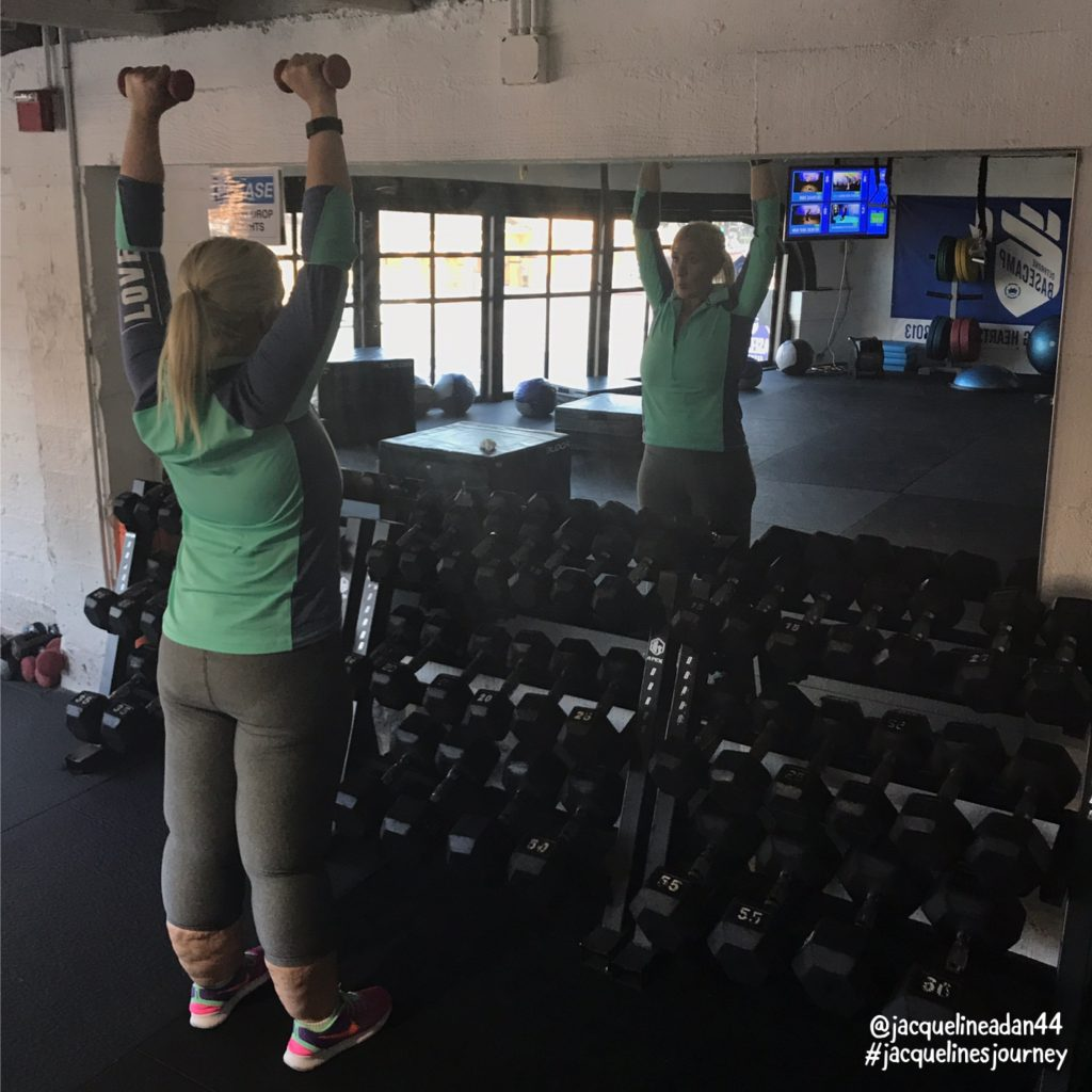 Jacqueline Overhead Press self motivation