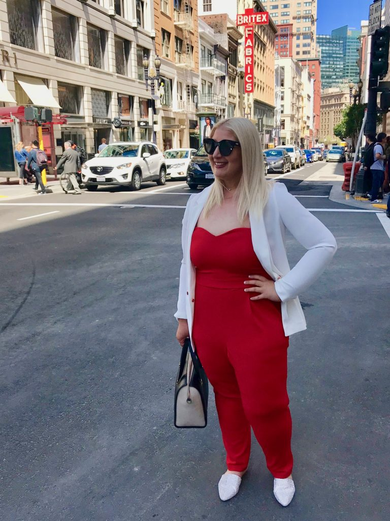 Best-accessory-confidence-red-jumpsuit
