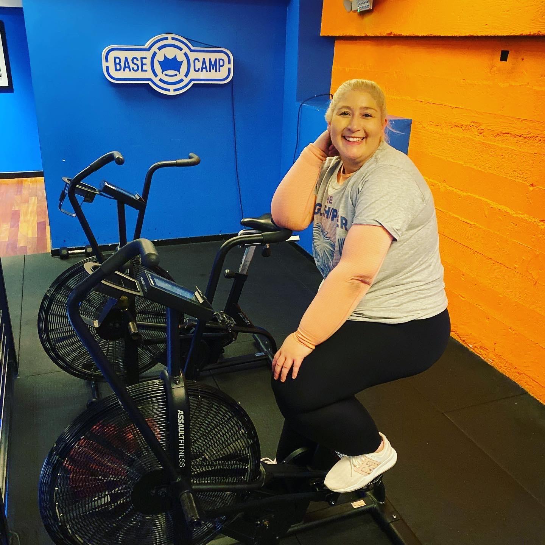 Jacqueline Adan Riding Assault Bike