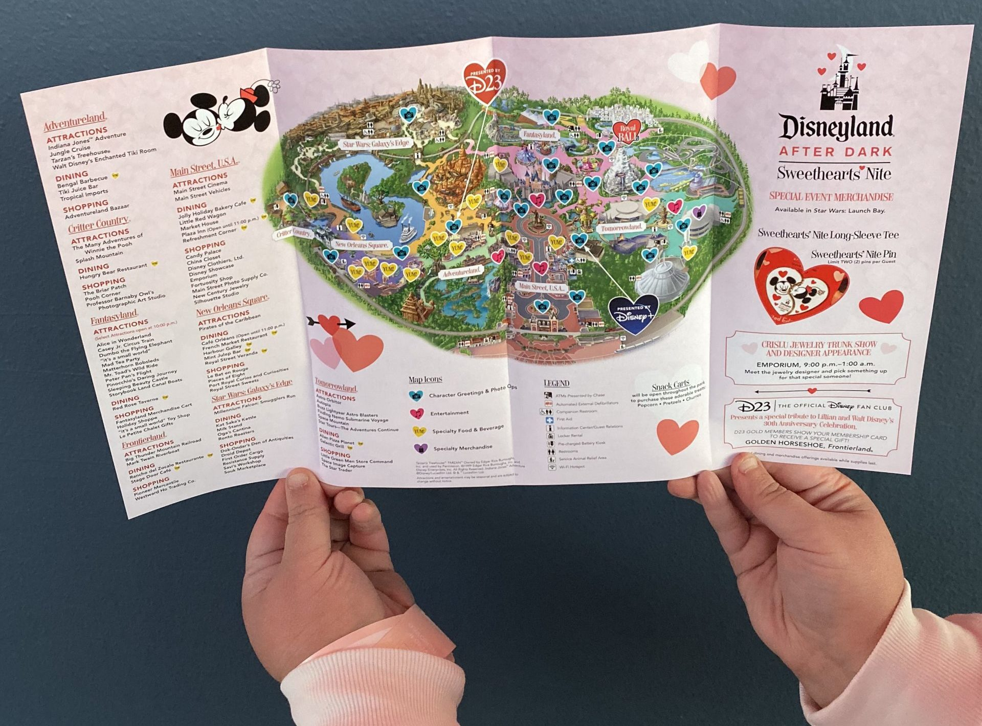 Disneyland After Dark Sweethearts Nite Map