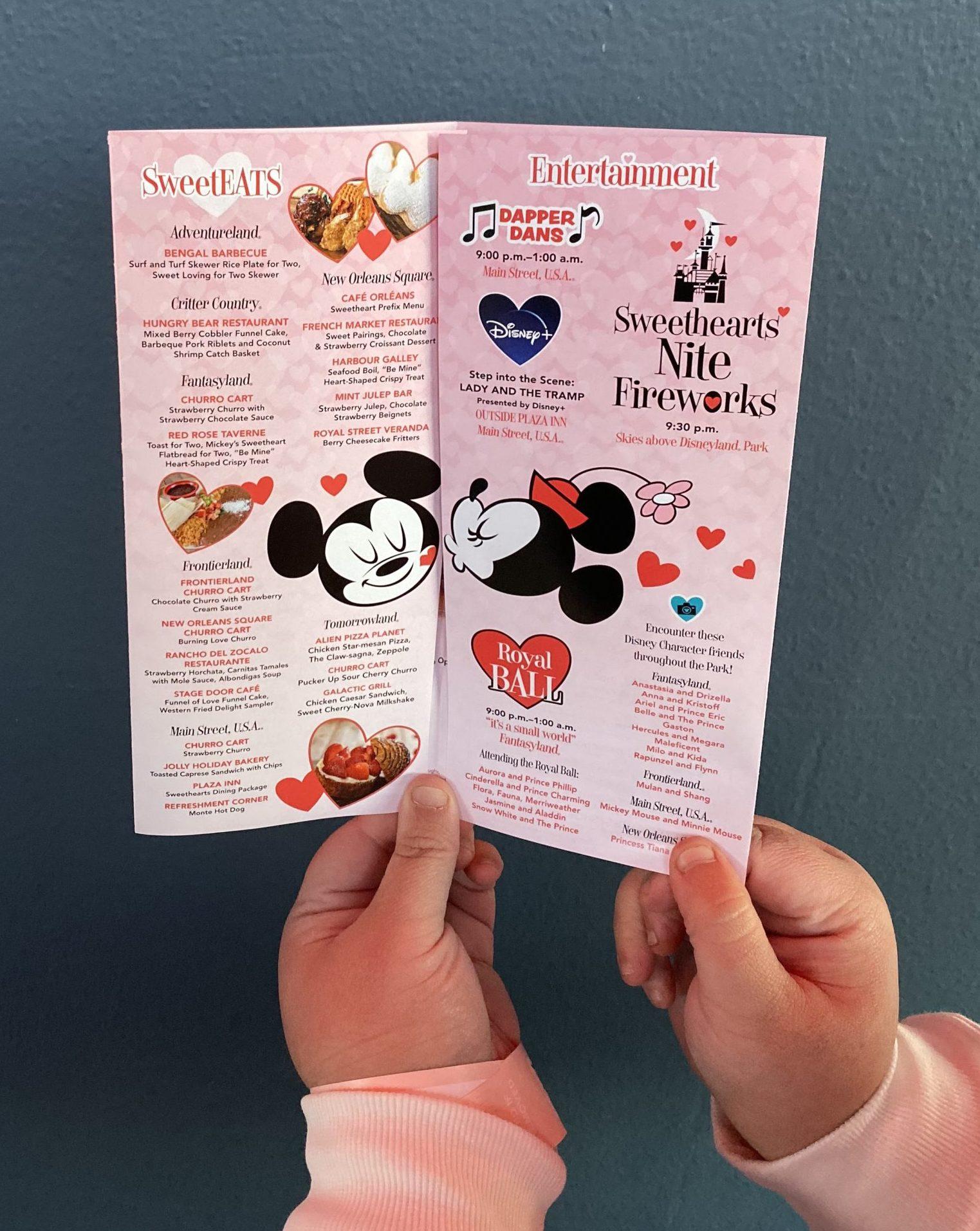 Disneyland After Dark Sweethearts Nite Map