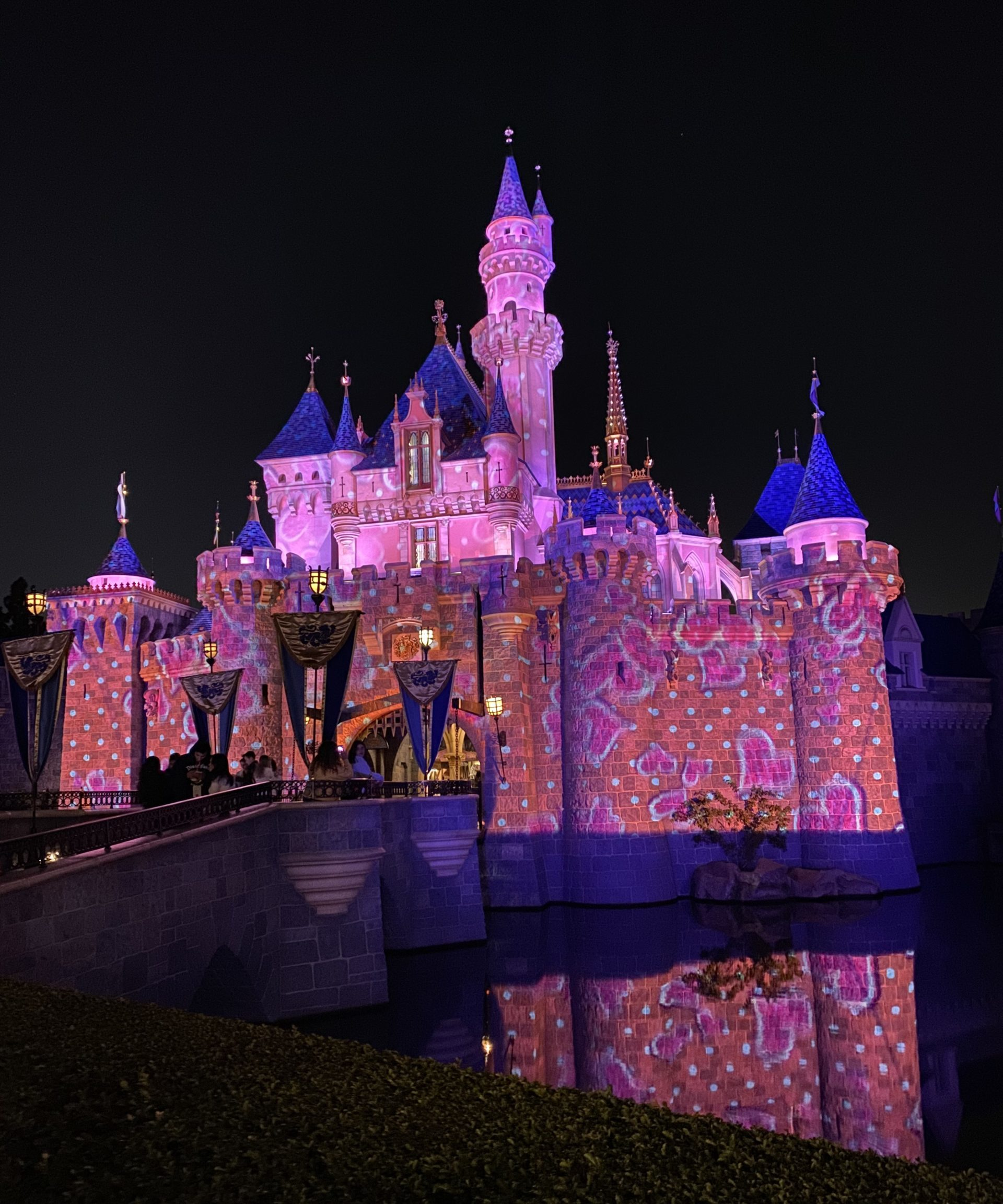Disneyland After Dark Sweethearts Nite Castle Projections