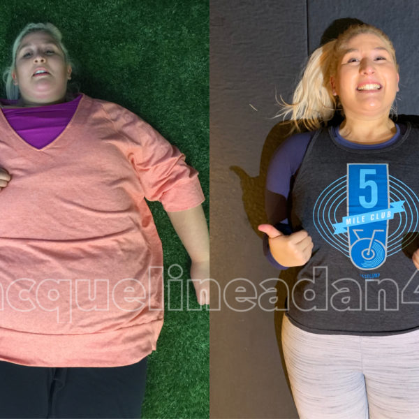 Jacqueline Adan before and after 300 lbs lost