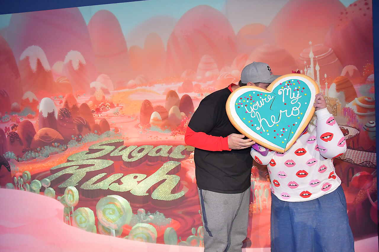 Disneyland Afterdark Wreck It Ralph Photo Op