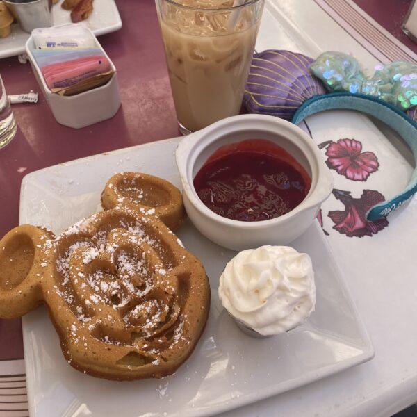 Carnation Cafe Disneyland Strawberry Waffle